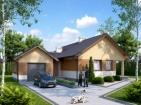 Проект жилого дома с гаражом